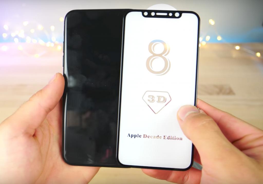 iPhone8の精巧で本物に近いモックアップと保護フィルム