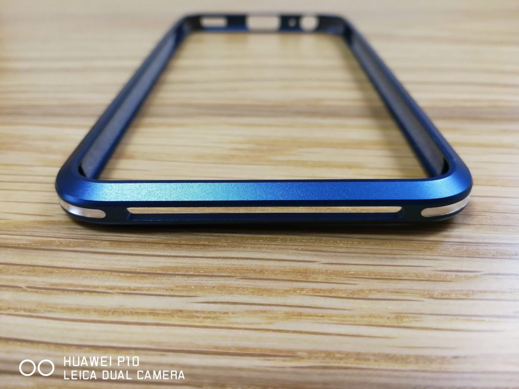 Huawei P10 金属フレームケースのバンパーブルーの上部