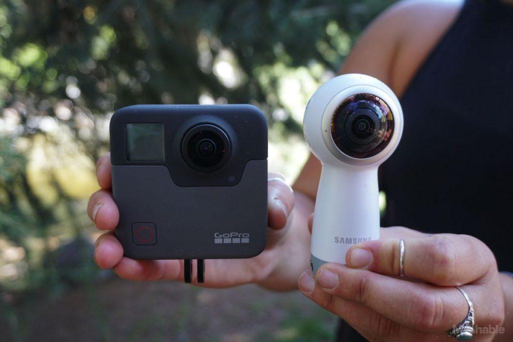 goproの新型360度全方位カメラfusionとサムスンgear360の比較
