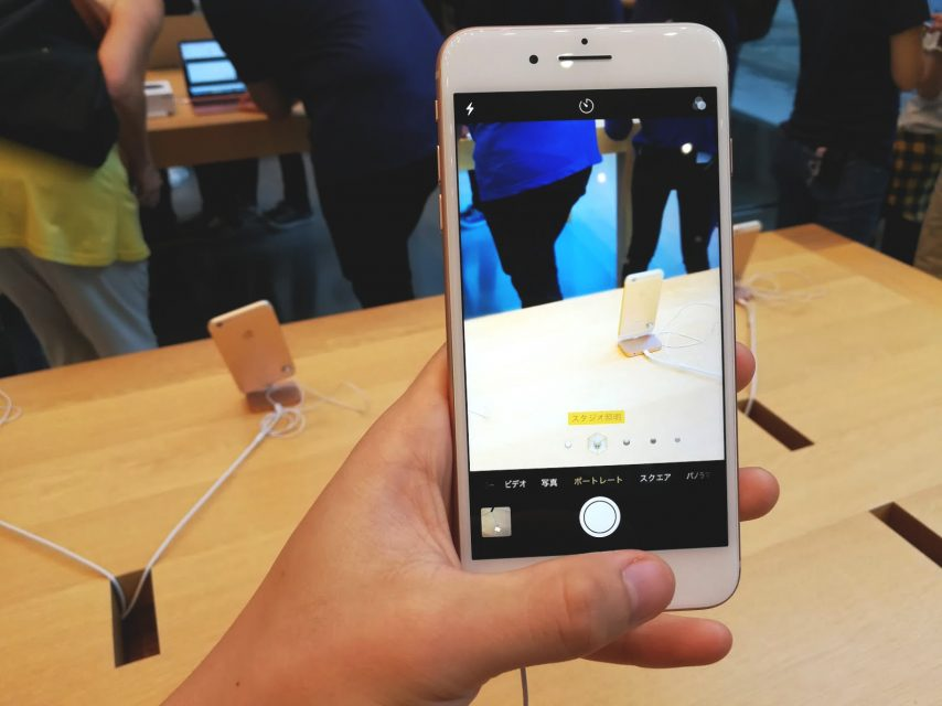 iphone8plusのポートレートライティングモード