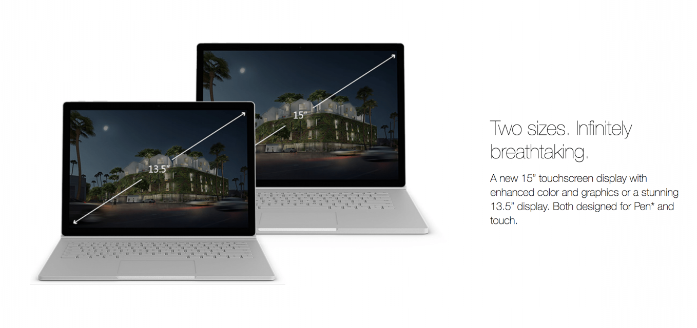 surface_book2は2モデル展開