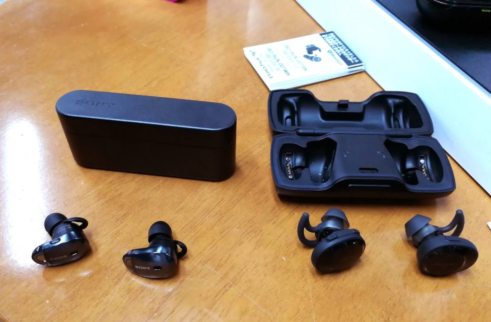 SONY「WF-1000X」とBose SoundSport Free wireless headphonesを比較