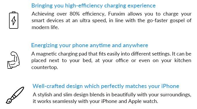 iPhoneとAppleWatchを同時充電可能なAirPower風のQi対応ワイヤレス充電パッドFunximのユニークな点3つ