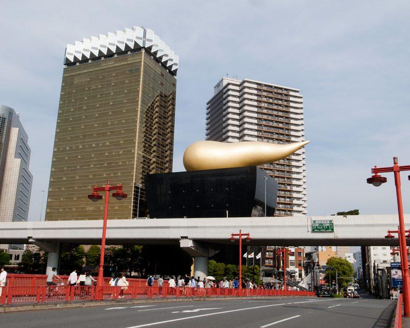 Philippe Starckデザインのアサヒビール本社の金のオブジェ