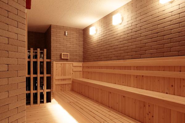 露天風呂ありの東京のオシャレ銭湯天然温泉久松湯のサウナ内部