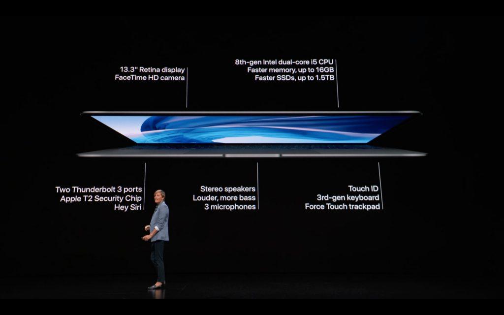 macbookairのスペック詳細の説明