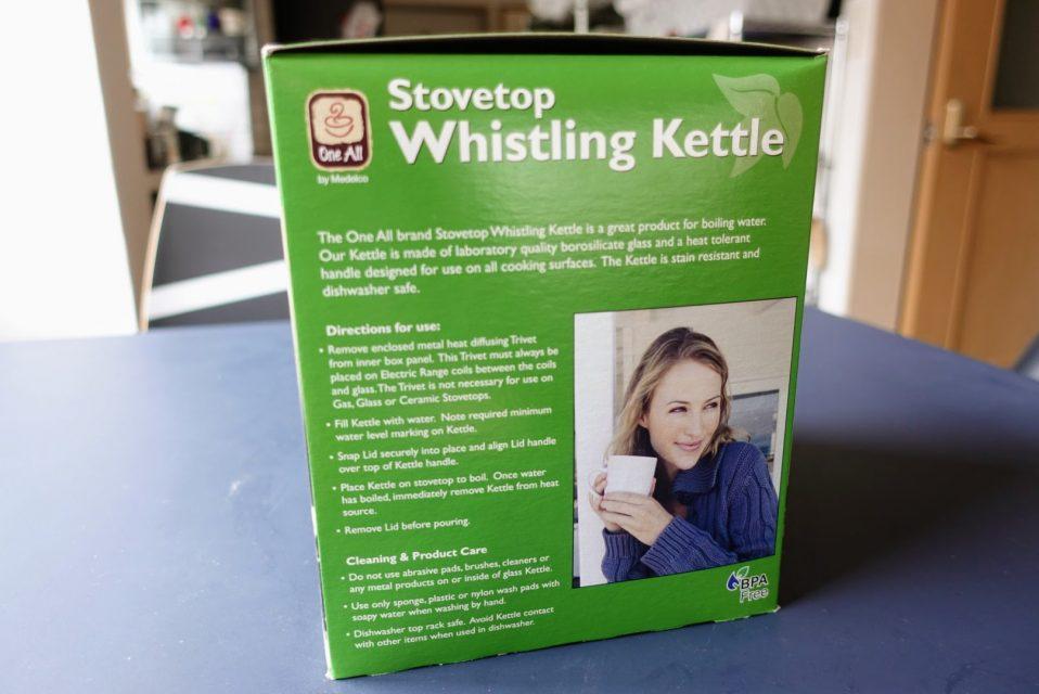 輸入代行XBORDERで送られて来たwhistling kettleの外箱側面